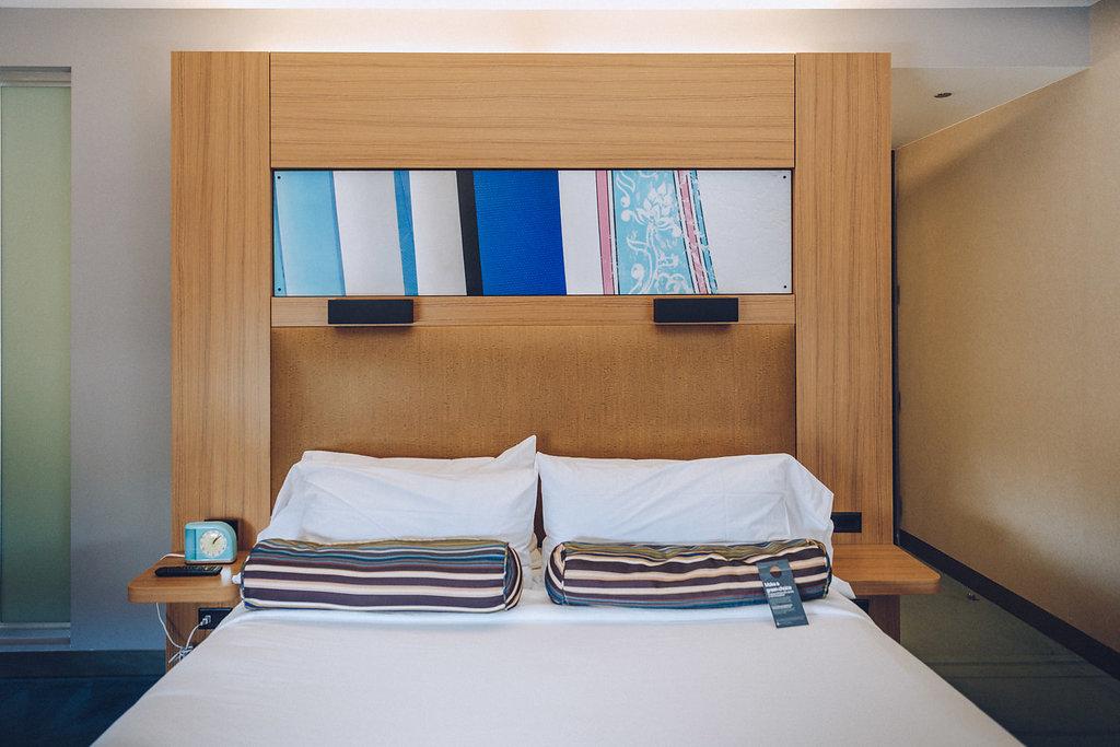 Camera da letto dell'Aloft Miami Doral