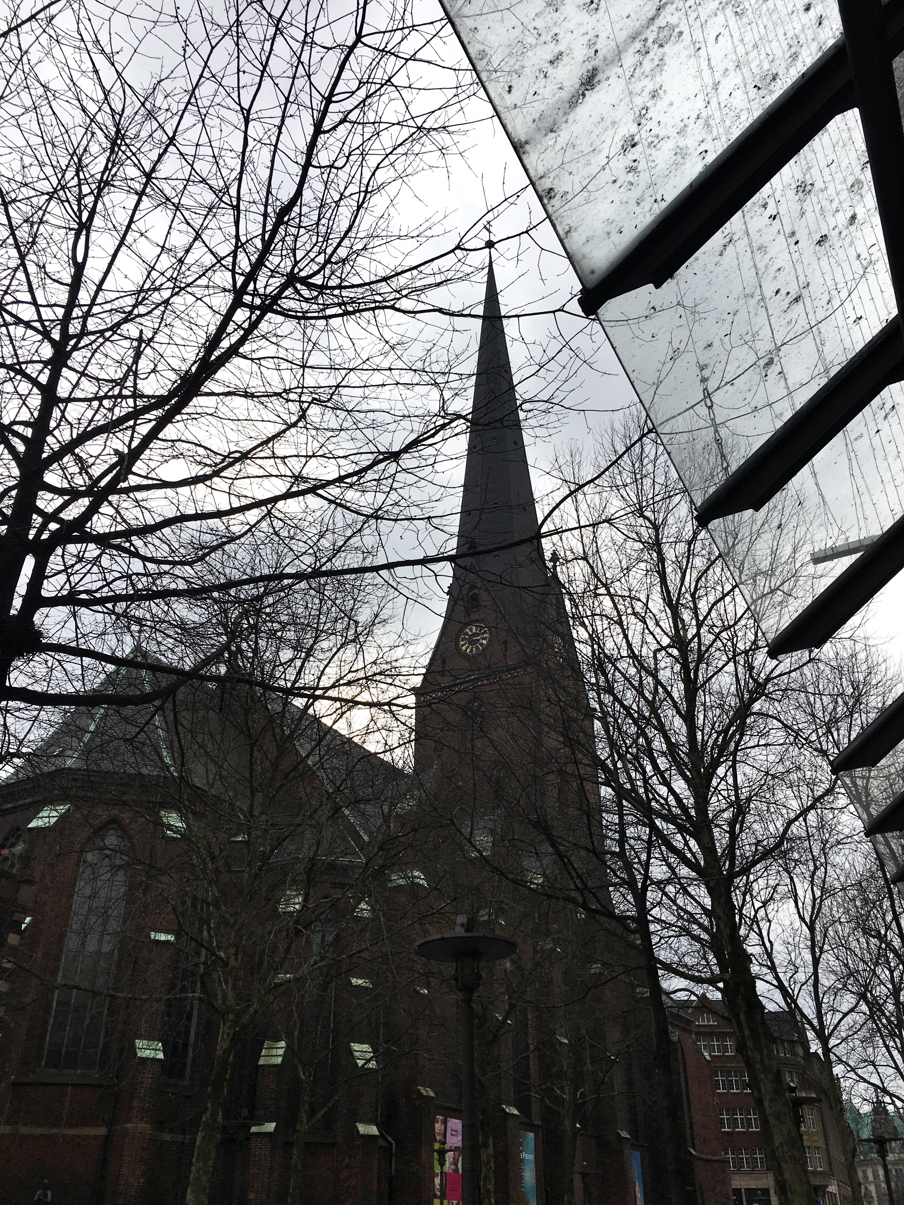 Veduta di Amburgo e dettaglio architettura