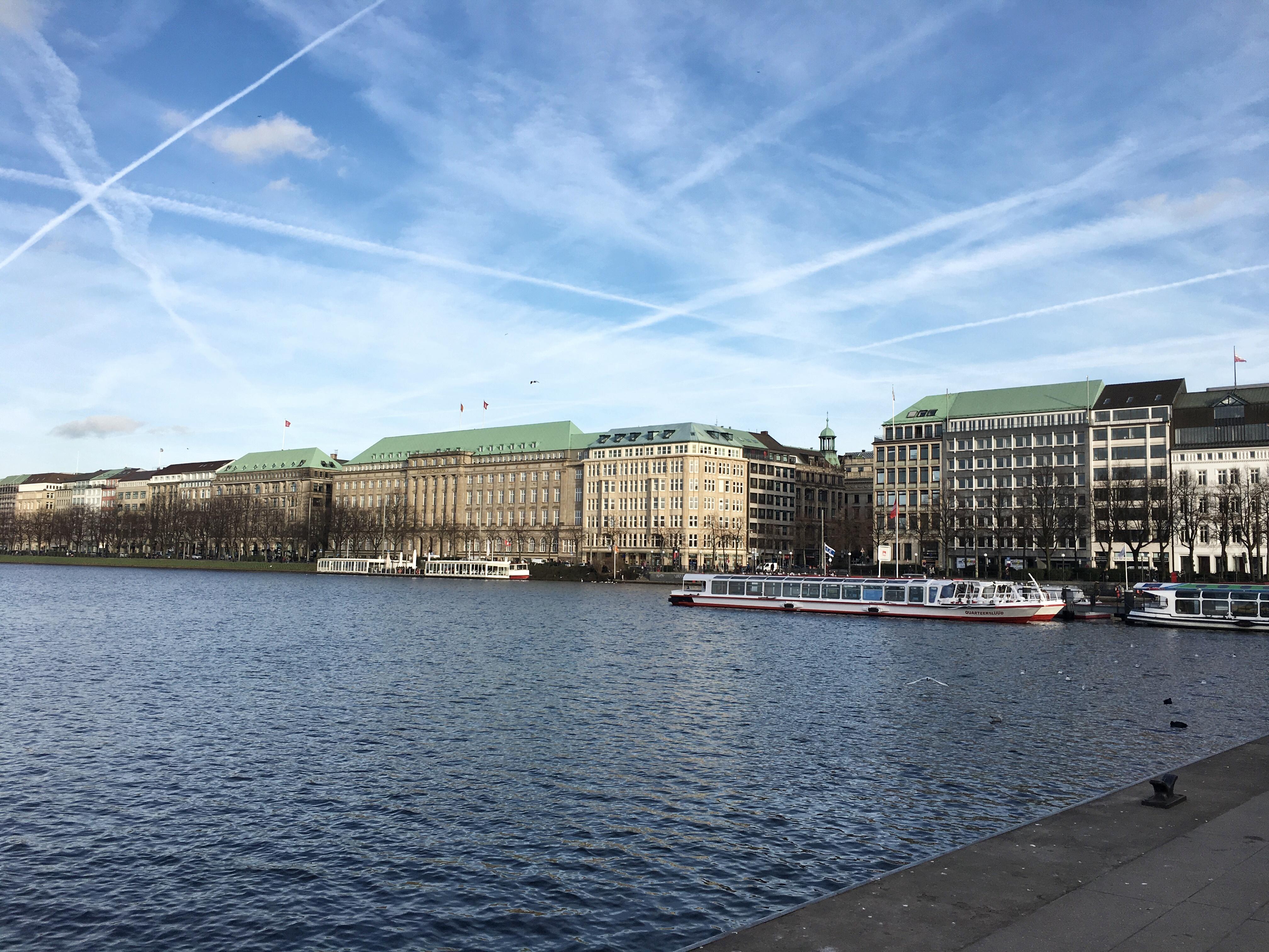Veduta sul Lago Alster, Amburgo