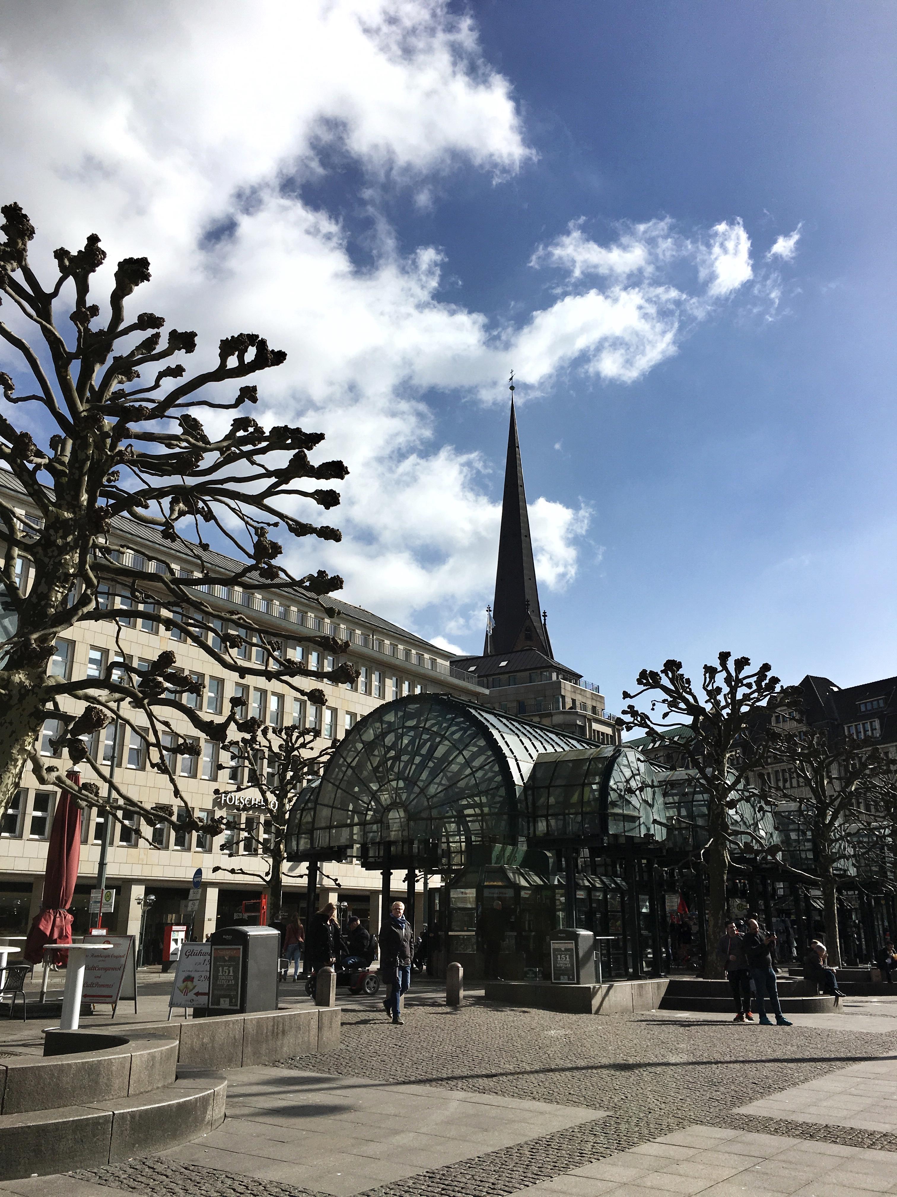 La piazza del municipio di Amburgo