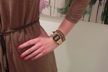 New in: a gold touch on my wrist