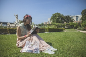 Tatiana Biggi - outfit- Genova shooting at Villa del Principe