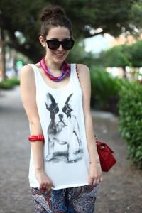 Tatiana Biggi - outfit- Tati loves pearls - bulldog francese - stampa paisley