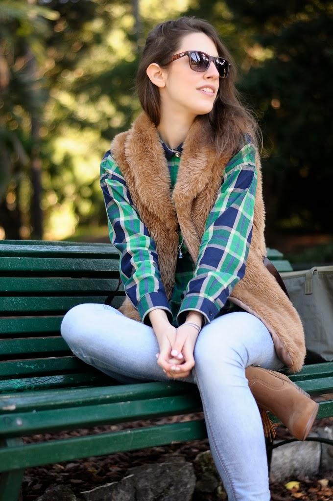 Tatiana Biggi - Tati loves pearls - outfit - camicia scozzese come abbinarla - country - grunge - lifestyle