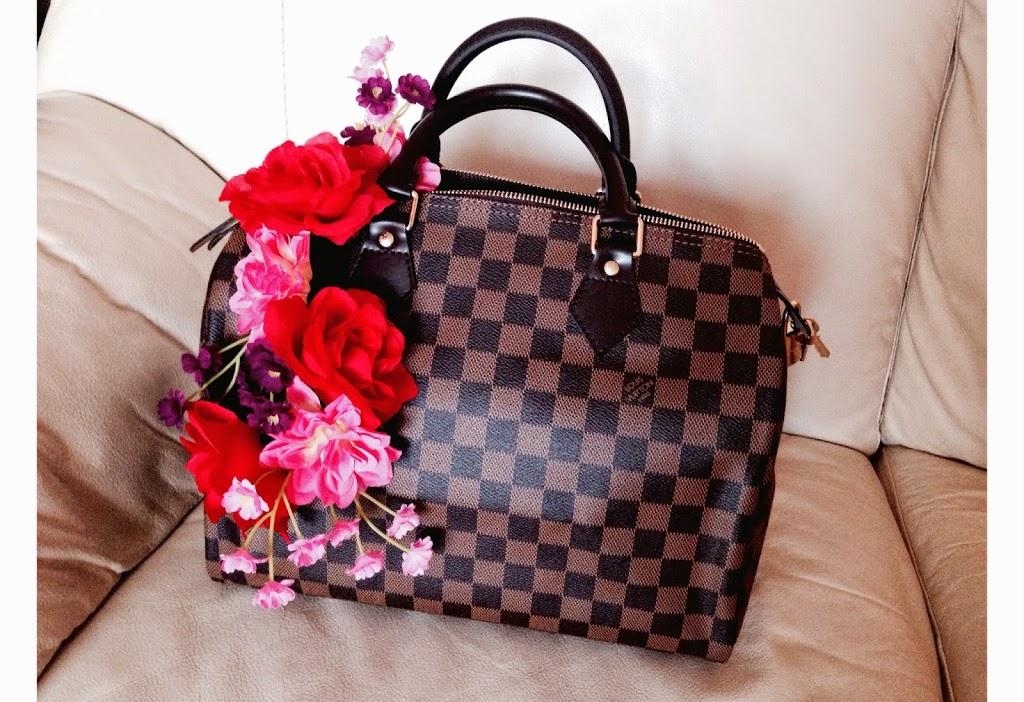 Tatiana Biggi - Tati loves pearls - Louis Vuitton - speedy 30 - Damier - shopping