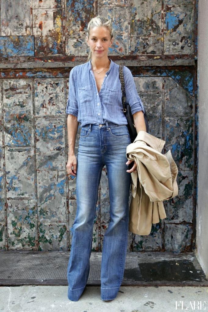 Tatiana Biggi - Tati loves pearls - flare jeans fashion blogger - outfit inspirations - denim