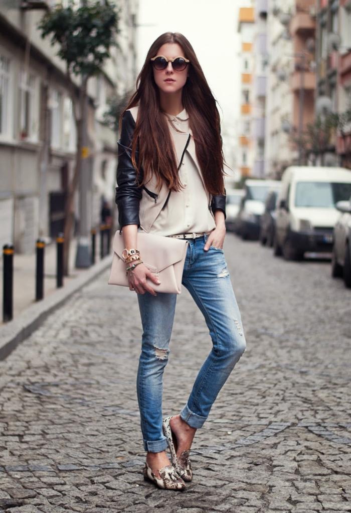 Tatiana Biggi - Tati loves pearls - skinny jeans fashion blogger - outfit inspirations - denim
