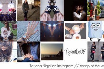 Tatiana Biggi on Instagram // recap of the week