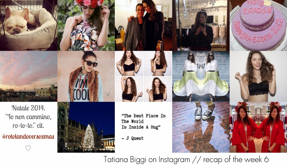 Instagram recap - Tatiana Biggi instagram - instagram fashion blogger