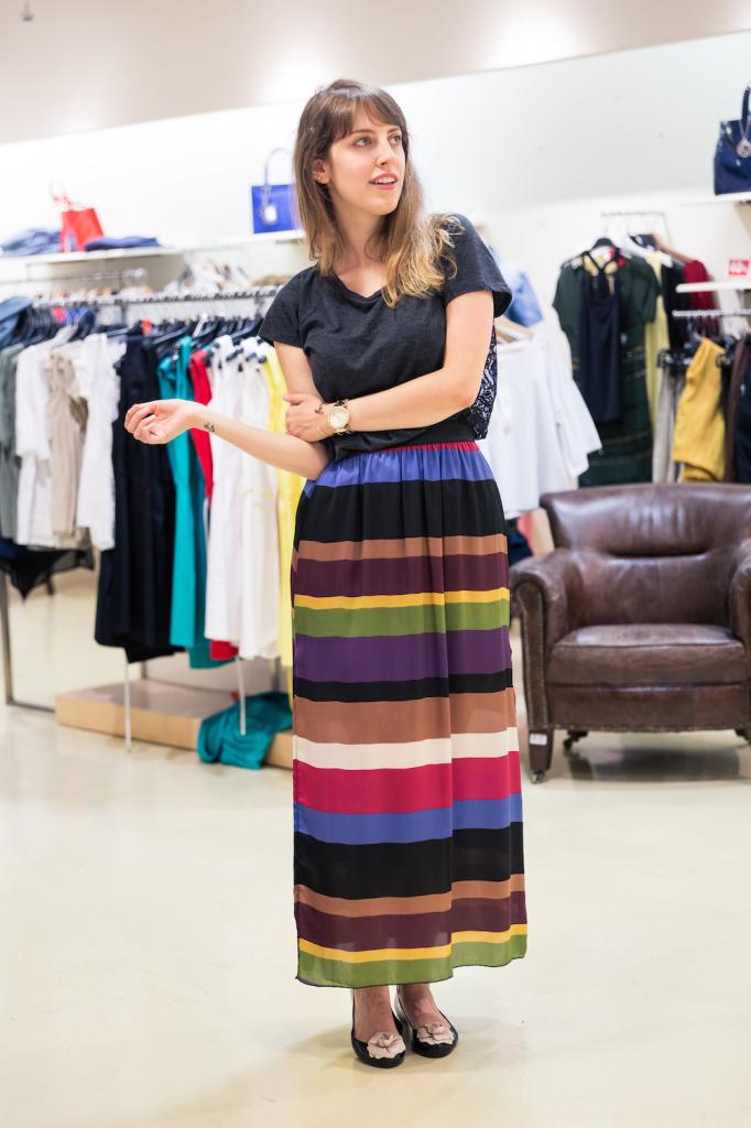 Shopping durante i saldi - saldi cosa comprare - shopping a Genova - Giglio Bagnara Genova - estate 2015 trends - maxi dress - maxi skirt