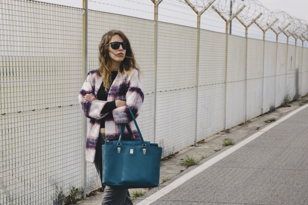 Piero Guidi - outfit inverno - tartan - panta coulottes - sneakers