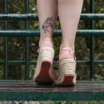 Di domenica - abito promod - tatuaggio unicorno - look anni 50 - chanel vintage