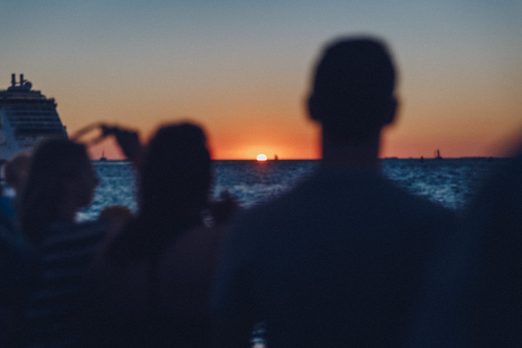 Il tramonto sul Golfo del Messico a Key West