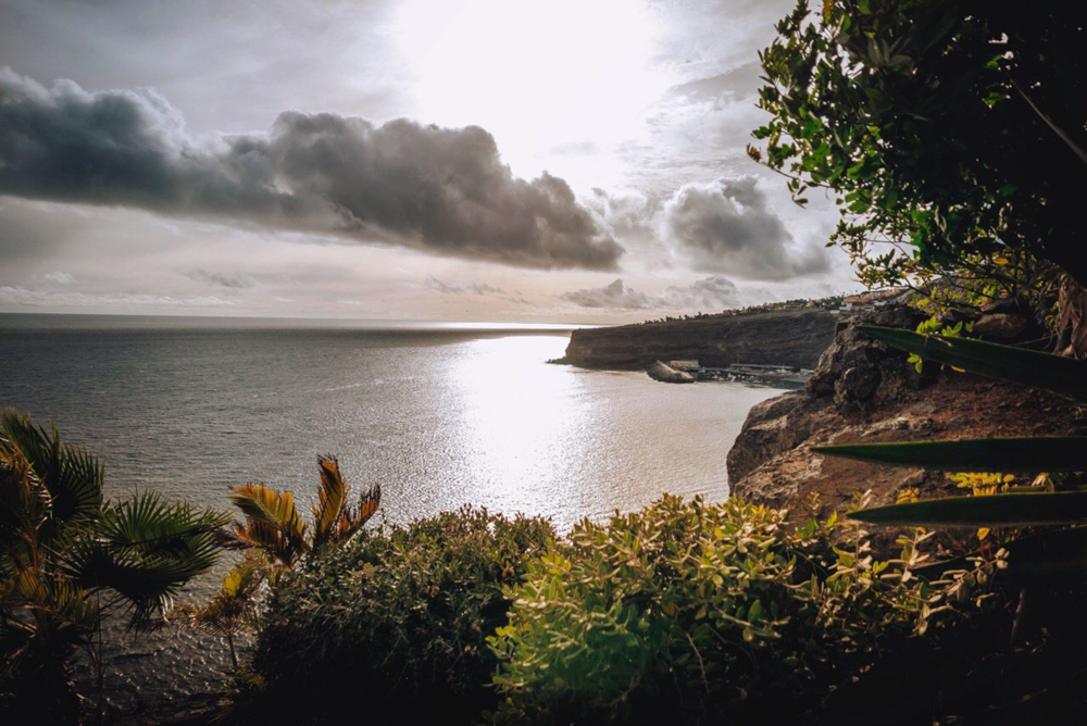 La vista dall'Hotel Jardin Tecina la Gomera