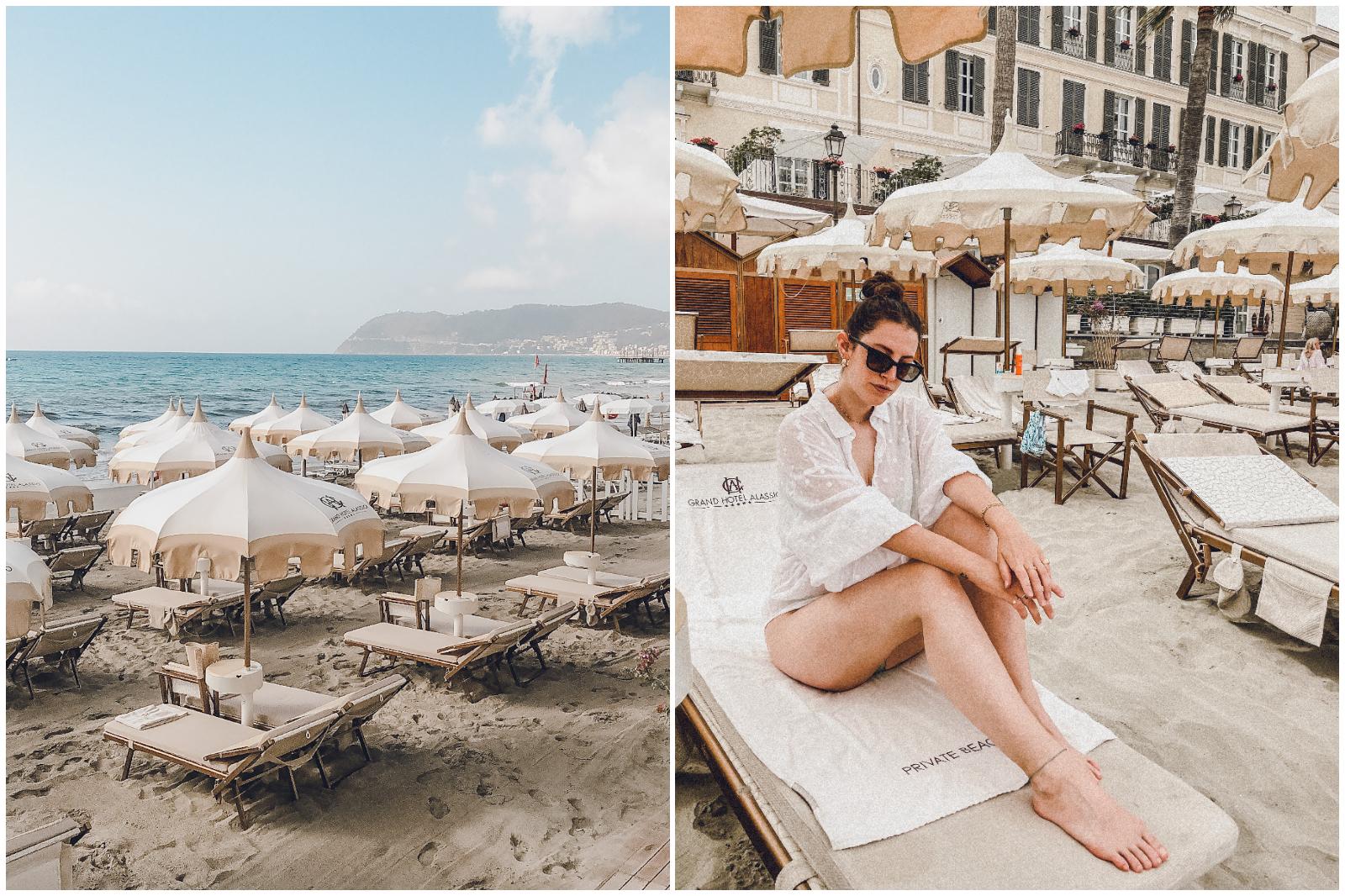 Grand Hotel Alassio la spiaggia
